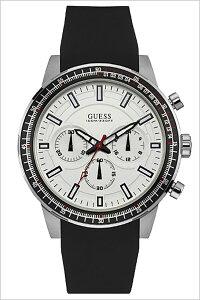 ゲス腕時計[GUESS時計](GUESS腕時計ゲス時計)フューエル(FUEL)メンズ/腕時計/ホワイト/W0802G1[クロノグラフ/シリコンベルト/正規品/新品/ファッションウォッチ/カジュアル/防水/ブラック][送料無料]