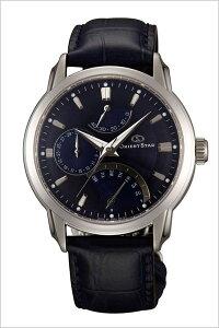 オリエント腕時計[ORIENT時計](ORIENT腕時計オリエント時計)オリエントスターレトログラード(OrientStarRetrograde)メンズ/腕時計/ネイビー/WZ0081DE[革ベルト/機械式/自動巻/メカニカル/正規品/オリエントスター/ブルー][送料無料]