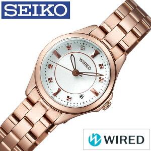 [9月9日販売開始]ワイアード腕時計[WIRED時計](WIRED腕時計ワイアード時計)レディース/腕時計/ホワイト/AGEK439[メタルベルト/正規品/防水/SEIKO/ワイヤード/ローズゴールド/ピンクゴールド/クリスタル/ストーン][送料無料]