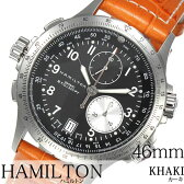 ハミルトン 腕時計 [ HAMILTON時計 ]( HAMILTON 腕時計 ハミルトン 時計 ) カーキ アビエーション ( KHAKI ETO ) メンズ 腕時計 ブラック H77612933 [ 革 ベルト クロノグラフ クオーツ 新作 防水 ブランド オレンジ シルバー 送料無料 ]