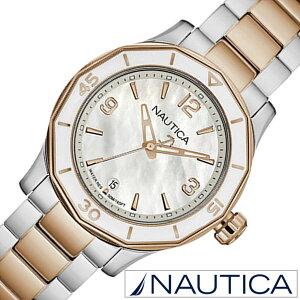 ノーティカ腕時計[NAUTICA時計](NAUTICA腕時計ノーティカ時計)(NWS01)レディース/腕時計/ホワイト/NAD19544L[正規品/メタルベルト/クオーツ/防水/新作/ブランド/ローズゴールド/シルバー/スポーツ/アナログ][送料無料]