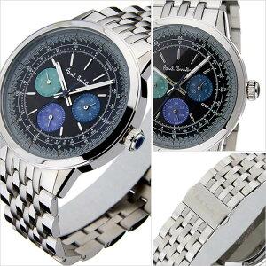 ポールスミス腕時計[PaulSmith時計](PaulSmith腕時計ポールスミス時計)プレシジョン(PRECISION)メンズ/腕時計/ブラック/P10005[メタルベルト/クオーツ/アナログ/うでとけい/クロノグラフ/シルバー][送料無料]