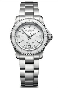 ビクトリノックス腕時計[VICTORINOX時計](VICTORINOXSWISSARMY腕時計ビクトリノックススイスアーミー時計)マーベリックスモール腕時計/ホワイト/VIC-241699[新作/正規品/ブランド/メタルベルト/防水/ミリタリー/シルバー][送料無料]