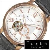 フルボデザイン腕時計[Furbodesign時計](Furbodesign腕時計フルボデザイン時計)メンズ/腕時計/シルバー/F5026GYSET[革ベルト/正規品/機械式/自動巻/メカニカル/おしゃれ/オートマチック/セット/イタリア][送料無料]