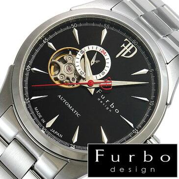 【5年保証対象】フルボデザイン 腕時計 Furbodesign 時計 フルボ デザイン 時計 Furbo design 腕時計 メンズ ブラック F5029BKSS メタル ベルト 正規品 機械式 自動巻 メカニカル おしゃれ オートマチック シルバー イタリア 送料無料[ バーゲン ]