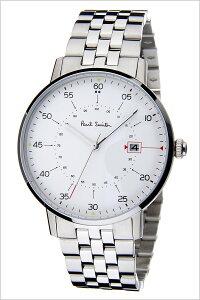 ポールスミス腕時計[paulsmith時計](paulsmith腕時計ポールスミス時計)ゲージ(GAUGE)メンズ/腕時計/ホワイト/P10074[新作/高級/メタルベルト/シンプル/トレンド/ブランド/おすすめ/ギフト/プレゼント/シルバー][送料無料]