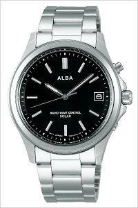 セイコー腕時計[SEIKO時計](SEIKO腕時計セイコー時計)アルバ(ALBA)メンズ/レディース腕時計/ブラック/AEFY502[新作/人気/正規品/ブランド/おすすめ/オススメ/防水/電波ソーラー/防水/ソーラー/電波修正/メタルベルト/シルバー]