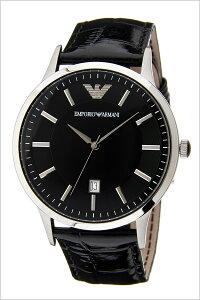 エンポリオアルマーニ腕時計[EMPORIOARMANI]アルマーニ時計クラシック(Classic)メンズ腕時計ブラックAR2411[トレンドブランド高級EAエンポリギフトプレゼント革レザーベルトシルバー]