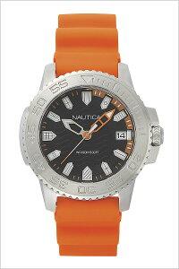 【5年延長保証】ノーティカ腕時計[NAUTICA時計]フラッグス(FLAGS)メンズ腕時計ブラックNAPKYW002[正規品ブランド防水プレゼントシリコンオレンジシルバー]