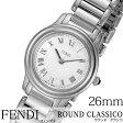 フェンディ 腕時計 [ FENDI 時計 ] ラウンド クラシコ ( ROUND CLASSICO ) レディース ホワイト F251024000 [ スイス製 イタリア プレゼント 人気 ブランド ファッション おしゃれ シルバー ]