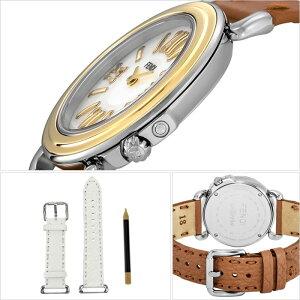 フェンディ腕時計[FENDI時計]セレリア(SELLERIA)レディースホワイトFENDI-001[スイス製イタリアプレゼント人気ブランドファッションおしゃれブラウンシェルレザー革]