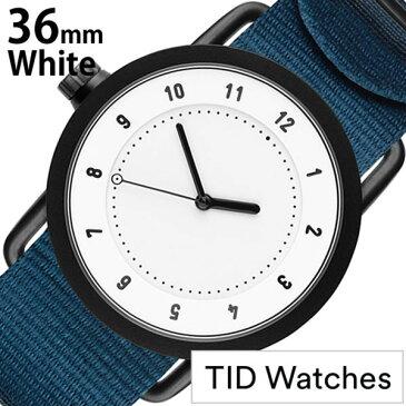 【5年保証対象】ティッドウォッチ 腕時計 TIDWatches 時計 ティッド ウォッチ 時計 TID Watches 腕時計 レディース ホワイト SET-TID01-WH36-NBL 正規品 人気 流行 ブランド 革 レザーベルト 北欧 シンプル ブルー ナイロン 送料無料[ バーゲン ]