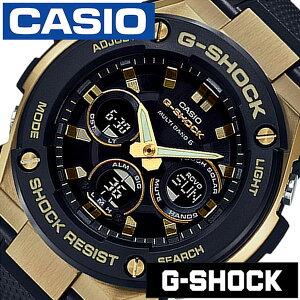 [あす楽]【延長保証対象】カシオ 腕時計 CASIO 時計 カシオ 時計 CASIO 腕時計 ジーショック ジースチール G-SHOCK G-STEEL メンズ ブラック ゴールド GST-W300G-1A9JF 新作 防水 Gショック 電波ソーラー シリコン アナデジ [ プレゼント ギフト 新生活 ]