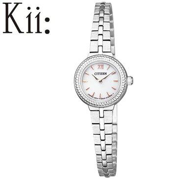 【延長保証対象】シチズン 腕時計 CITIZEN 時計 キー Kii レディース ホワイト EG2981-57A [ エコ・ドライブ ソーラー 小さい 小さめ かわいい エレガント クラシカル 丸型 ラウンド ファッション おしゃれ おすすめ 人気 ブランド プレゼント ギフト]