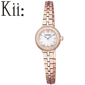 【延長保証対象】シチズン 腕時計 CITIZEN 時計 キー Kii レディース ホワイト EG2984-59A [ エコ・ドライブ ソーラー 小さい 小さめ かわいい エレガント クラシカル 丸型 ラウンド ファッション おしゃれ おすすめ 人気 ブランド プレゼント ギフト]