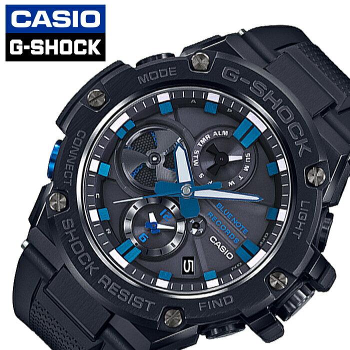 腕時計, メンズ腕時計  CASIO G-SHOCK G-STEEL GST-B100BNR-1AJR BLUE NOTE RECORDS Bluetooth