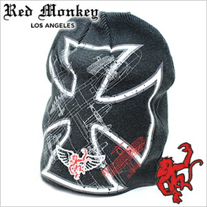 メンズ帽子, ニット帽  RED MONKEY DESIGNS Dog-Fight-BLACK