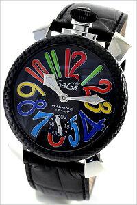 ガガミラノ腕時計[GaGaMILANO時計](GaGaMILANO腕時計ガガミラノ時計)マヌアーレ48MMPVD/カーボニオ(MANUALE48MMPVD/CARBONIO)/メンズ時計GG-5015