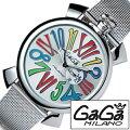 �����ߥ���ӻ���[GaGaMILANO����](GaGaMILANO�ӻ��ץ����ߥ�λ���)�����46MM���å��㥤��(SLIM46MMACCIAIO)/�����GG-5080.1