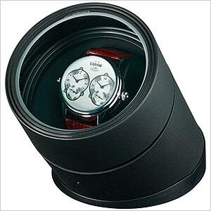 ワインディングマシーン[Winding Machine]LEDライト付き丸型ワインディングマシーン腕時計用ワインダーケース(自動巻き上げ機・機械式)ES-10100BK[ディスプレイ ウォッチケース 時計ケース 腕時計ケース]