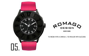 ロマゴデザイン腕時計[ROMAGODESIGN時計](ROMAGODESIGN腕時計ロマゴデザイン時計)ヌメレーションシリーズ(Numerationseries)メンズ腕時計/シルバーミラー/RM007-0053ST-RD