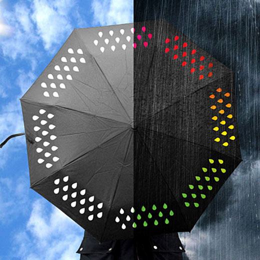 雨降り中の虹