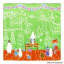 【限定】ムーミン ハンカチ トリビュートワークス ママの壁紙/グリーン [HD1145]