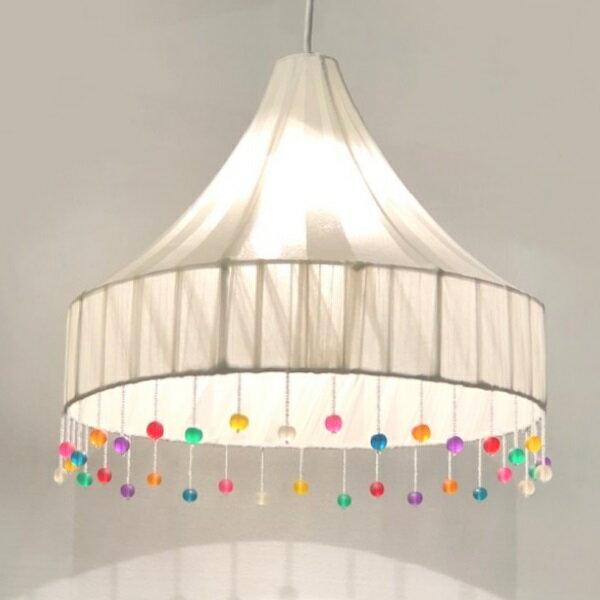HUGオリジナル ミックスボンボンビーズペンダントランプ 天井照明 吊り式照明 LED対応