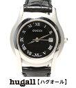 グッチ 5500L クォーツ SS×レザーベルト ブラック 腕時計 GUCCI レディース 【…