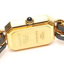 シャネルSIZESプルミエールH0001ブラック文字盤クォーツ腕時計CHANELレディース【中古】