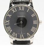 ティファニー アトラス ドーム 20020393 クオーツ ブラック文字盤 腕時計 TIFFANY&Co. メンズ 【中古】