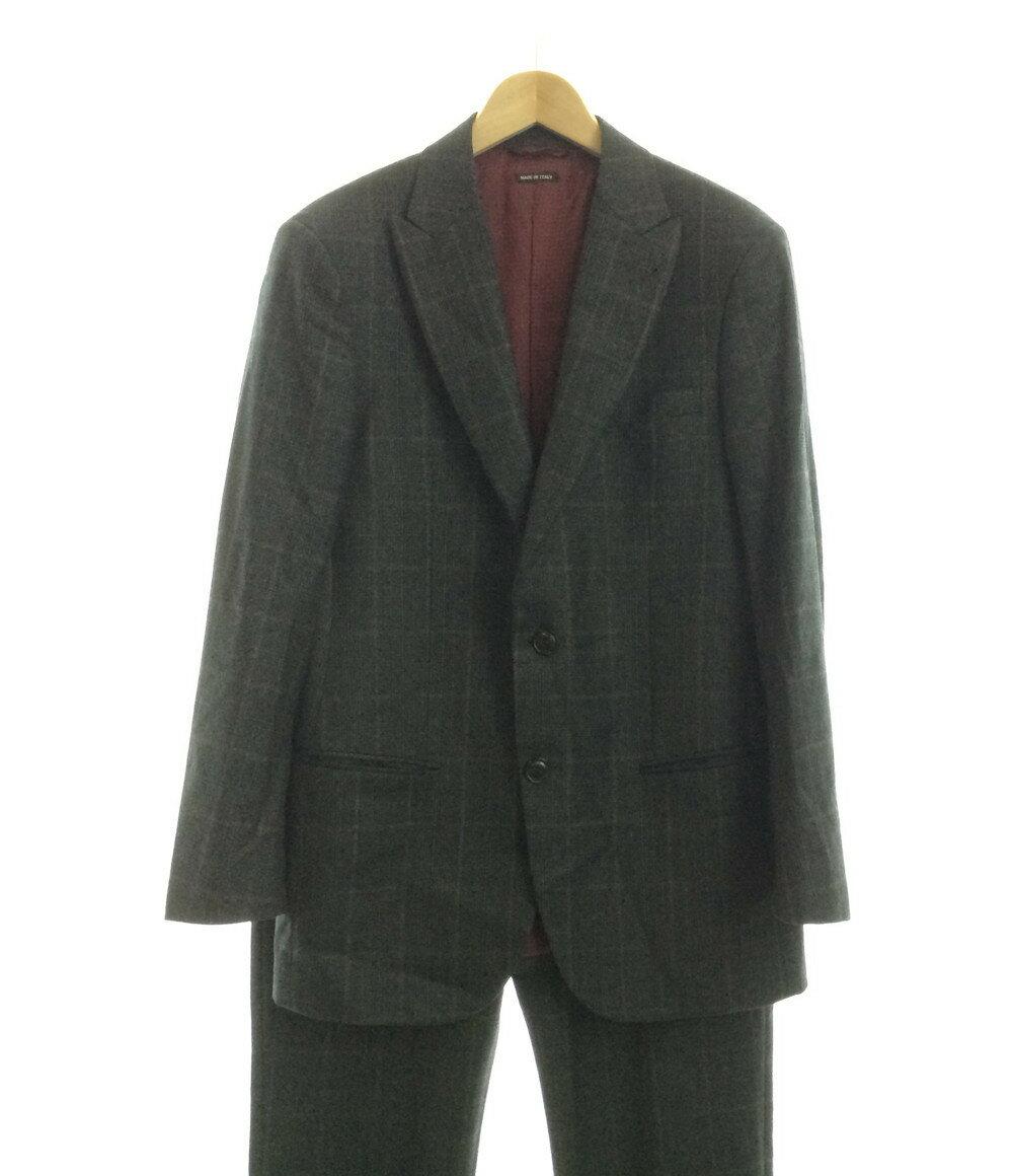 ジョルジオアルマーニ SIZE 50 (XL以上) チェック柄 2B スーツ 2015年 GIORGIO ARMANI メンズ 【中古】:ハグオール【BOOKOFF Group】