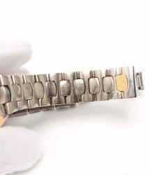 オメガ訳ありチタンシーマスターポラリスクオーツ腕時計グレーOMEGAレディース【】