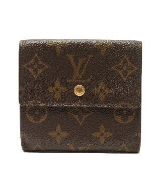 ルイヴィトン ポルトモネ カルトクレディ モノグラム M61652 Wホック 二つ折り財布 Louis Vuitton レディース【中古】