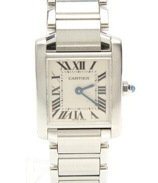カルティエ 腕時計 タンクフランセーズSM 2384(310138CD) クォーツ Cartier レディース 【中古】