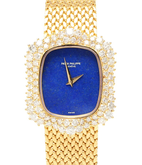 It is beautiful article パテックフィリップ watch manual operation winding blue Ladys PATEK PHILIPPE until - 9/3 23:59 at 9/2 18:00