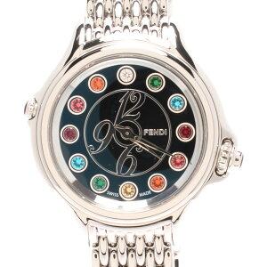 [Used] Beautiful goods Fendi Watch Crazy Carat Quartz Black 10500L Ladies FENDI
