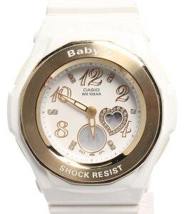 【中古】カシオ 腕時計 BASIC BABY-G クオーツ ホワイト BGA-100LV レディース CASIO