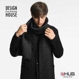 DESIGN HOUSE Stockholm デザインハウス ストックホルム Pleeceロングマフラー ブラック バッグ・小物・ブランド雑貨 ストール マフラー 男女兼用