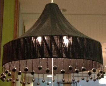 HUGオリジナル ビーズペン ダントランプ BDP-002 ブラック 天井照明 洋風ペンダントライト 6畳用