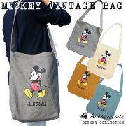 ディズニー ミッキー ヴィンテージ キャンバス トートバッグ レディース ショルダー Disneyzone
