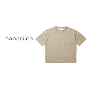 【SALE 30%OFF】nanamica(ナナミカ)メンズ ビッグ ハーフスリーブ ティー/ベージュ/ nanamica/Big H/S Tee/Beige #Tシャツ ポケットTシャツ 厚手 シンプル