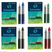 【即納】【Schneider/シュナイダー】ローラー万年筆用カートリッジペリカンにも対応します!ブラック/ブルー/レッド【メール便対応】【Wancher】