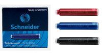 【即納】【Schneider/シュナイダー】万年筆用インクカートリッジ6本入り【メール便対応】【Wancher】