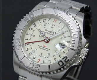 ASTRONAUT2 white alphabet Edition pilot GMT function! Mechanical automatic military watch small 24-hour show features production model