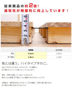 【送料無料】高さ約5cm!ロール桐すのこベッド・シングル【0104-送料無料】