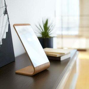卓上ミラースタンドミラーリンStandmirrorRin鏡テーブルミラー木製卓上ミラーインテリア雑貨モダンシンプルナチュラルブラウンかがみミラー[新商品]