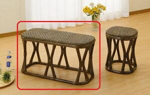 モダンなフレームデザインで和洋室問わずお似合い。座面は籐アジロ編み仕様で天然素材独特の涼感を!ワイドスツール
