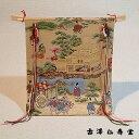 京都のお土産 和風雑貨 贈り物木製几帳 織物(京錦織)金閣寺の柄