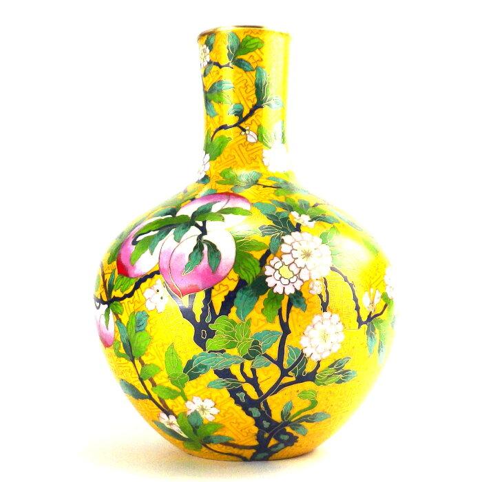 風水グッズ 故宮博物院レプリカ インテリア瓶 黄 花瓶 一輪挿し 黄色 風水 2020